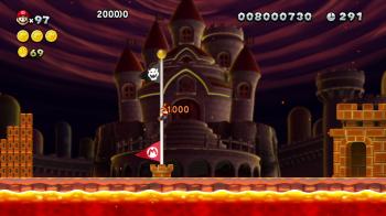 New Mario U - End Pole