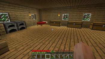 Minecraft First House Interior